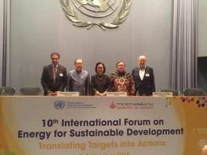10th International Forum on Energy for Sustainable Development