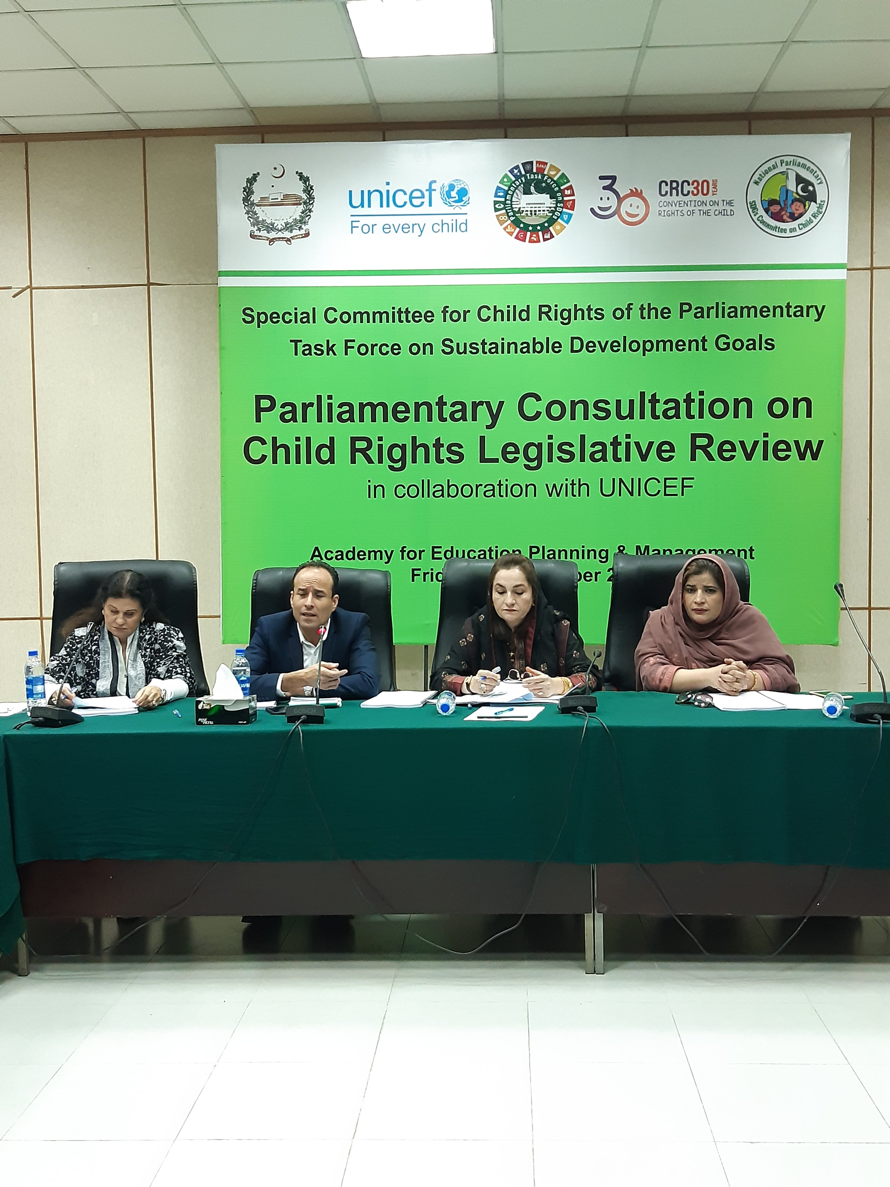 Parliamentary consultation on Child Rights Legislative review at Federal Assembly Islamabad